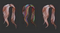 Zbrush Hair Strands Brush Set 1