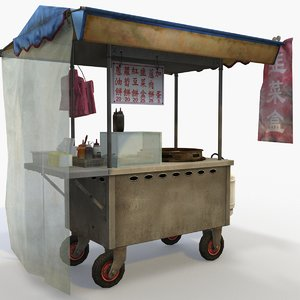 street vendor chinese breakfast 3D model