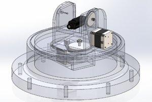 3D pan tilt platform