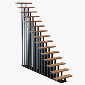 3D modern staircase stair