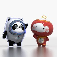 3D mascots beijing winter olympic model