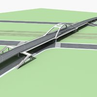 bridge 1 3D model
