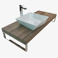 bathroom washbasin wash plate 3D model