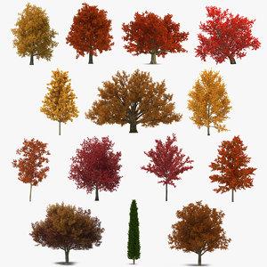 autumn trees 3 model