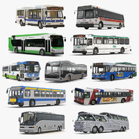 buses 9 bus 3D