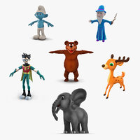 3D cartoon characters 3 model