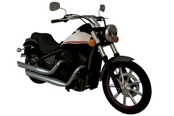 3D kawasaki cruiser bike