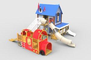 3D children s slide model