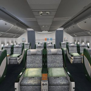 airplane-interior business class 3D