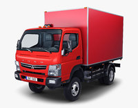 3D mitsubishi fuso canter 4x4 model