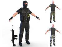 3D paramilitary 4k model