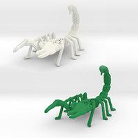 scorpions venomous 3D model