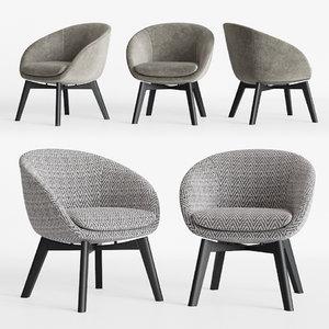 3D model minotti russell little lounge
