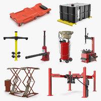 garage equipment 2 3D model
