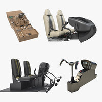 helicopter control panels 3 3D