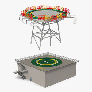 helicopter landing pad model