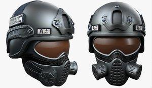 3D helmet armor scifi