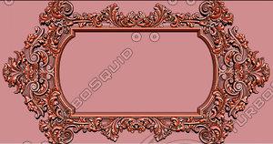 3D stl mirror frame classical