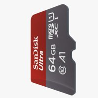 microsd card 3D model