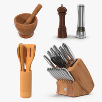 kitchenware kitchen utensils 3D model