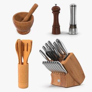 kitchenware kitchen utensils 3D model