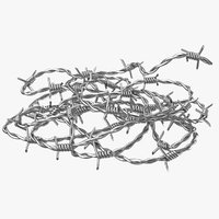 realistic diy barbed wire model