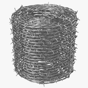 3D realistic barbed wire model