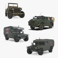 3D military ambulance