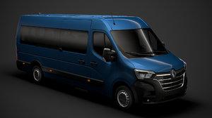 3D renault master l4h2 minibus model