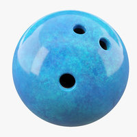 3D bowling ball model