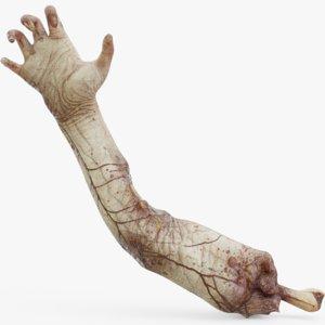 3D model zombie arm
