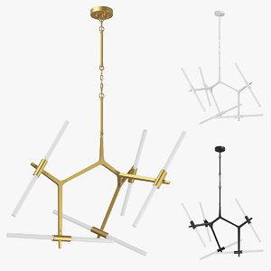3D 74210x struttura lightstar chandelier model