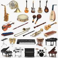 musical instruments 6 3D