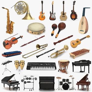musical instruments 6 3D