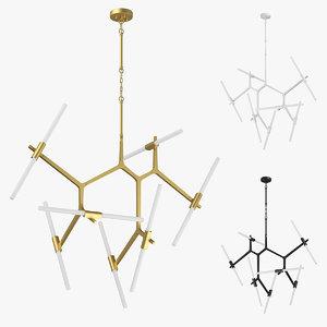 74214x struttura lightstar chandelier 3D model