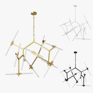 3D model 74220x struttura lightstar chandelier