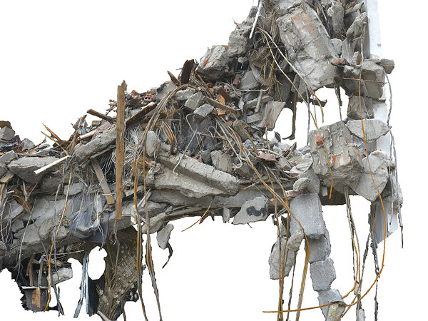 demolished building ultra hd model