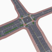 highway intersection model