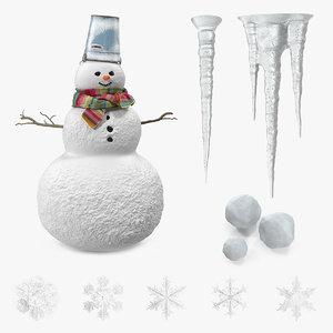 snow 2 3D model