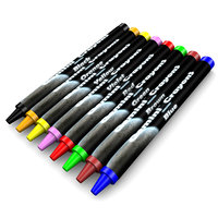 3D crayons colors