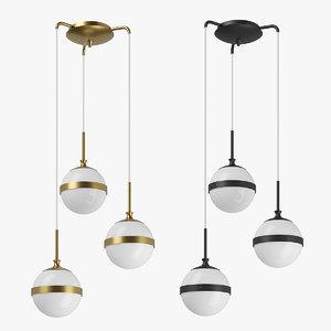 3D 81313x globo lightstar chandelier model
