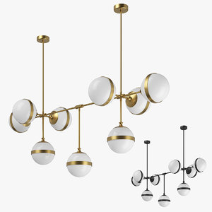 81319x globo lightstar chandelier 3D model