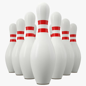 bowling pins 3D