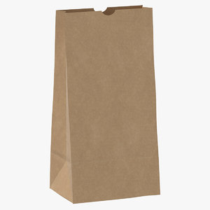 recycled paper bags 01 3D model