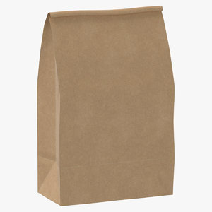 3D recycled paper bags 01 model