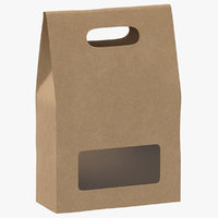 recycled paper bags 02 3D
