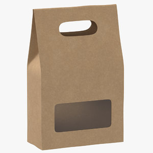 3D recycled paper bags 02 model