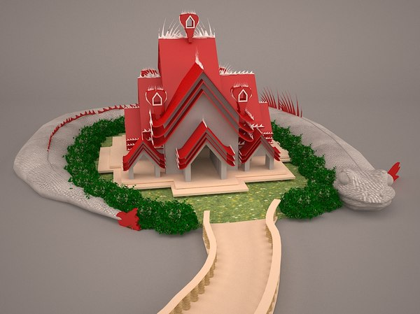 3D model chinese thailand temple