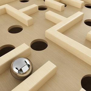 labyrinth wood model