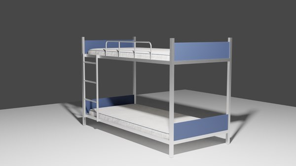military bunk bed 3D